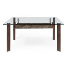 Soniya 6 Seater Dining Table - @home by Nilkamal, Merlot Brown