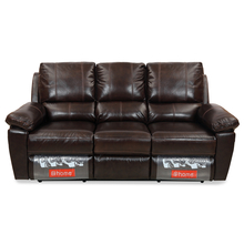 Marshall 3 Seater Sofa with 2 Manual Recliners- @home By Nilkamal, Russet Brown