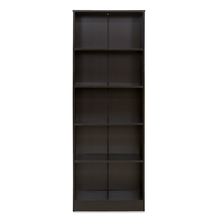 Fame 5 Tier Small Bookshelf - @home by Nilkamal, Black Oak