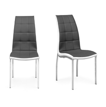 Fortis Dining Chair Set of 2 - @home by Nilkamal, Grey & White