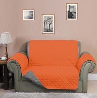 3 Seater Reversible Sofa Cover 179 cm x 279 cm - @home by Nilkamal, Orange & Grey