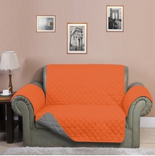 3 Seater Reversible Sofa Cover 179 cm x 279 cm - @home by Nilkamal, Orange & Grey