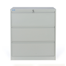 Nilkamal Retro 3 Drawer Filing Cabinet, Grey