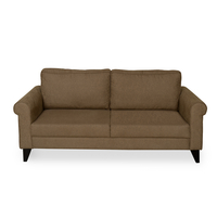 Shelby 3 Seater Sofa - @home by Nilkamal, Merlot Brown