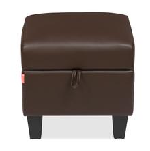 Russ Small Ottoman with Storage, Dark Brown