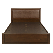 Mindy Queen Bed with Storage, Walnut