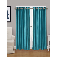 Embellished Square 115 cm x 213 cm Door Curtain - @home by Nilkamal, Sea Green