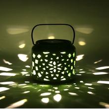 Solar 11 cm x 11 cm x 14 cm Lantern - @home by Nilkamal, Green