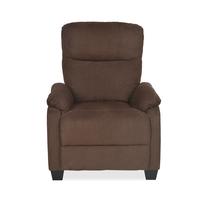 Rheus 1 Seater Sofa With Push Back, Dark Brown