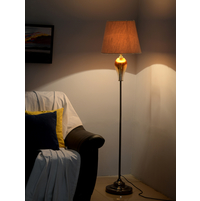 Ombre Glass Floor Lamp, Gold