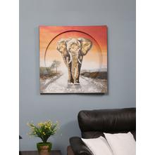 Elephantencirc Painting, Orange