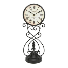 Antique Table Clock - @home by Nilkamal, Black