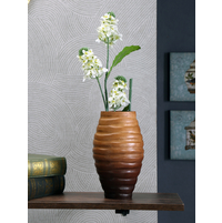 Drift 15.5 cm x 15.5 cm x 25.5 cm Wooden Vase, Brown