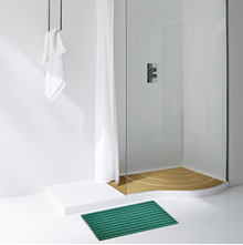 Naxan Gradation 40 cm x 60 cm Showermat - @home by Nilkamal, Teal
