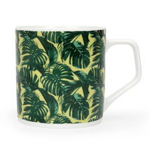 Director Palm Leaf 250 ml Coffee Mug - @home by Nilkamal, Green