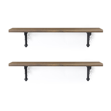 Opera & Juan Medium Wall Shelf Set of 2 - @home by Nilkamal, Walnut