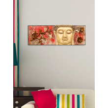 Moksha Buddha Wall Decor - @home by Nilkamal, Maroon