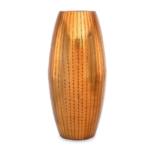 Ethopian Small Metal Vase - @home by Nilkamal, Gold