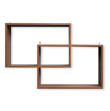 Sofia American Wall Shelf - @home by Nilkamal, Walnut