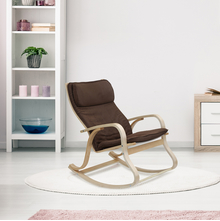 Pronto Rocking Arm Chair, Rich Brown