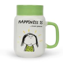 Hap Milk Mason inner peace 560ML Mug, Green