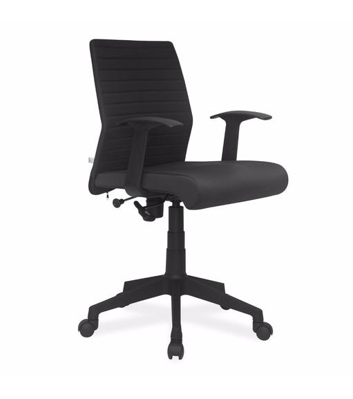 Nilkamal Thames Low Back Fabric Office Chair, Black