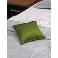 Waffle Reversible 30 x 30 cm Filled Cushion, Dark Green