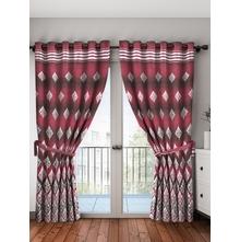 Zinia Blackout Door Curtain Set of 2, Fuchsia