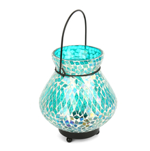 Mosaic Matki Hanging Lantern - @home by Nilkamal, Sea Green
