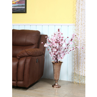 Hercules Metal Copper Large Vase - @home by Nilkamal, Brown