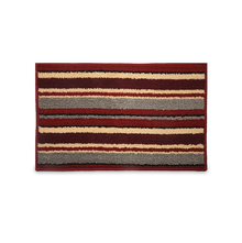 Glory Stripe 39 cm x 60 cm Doormat - @home by Nilkamal, Maroon