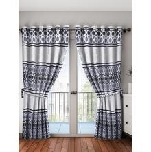 Leaf Blackout Door Curtain, Grey