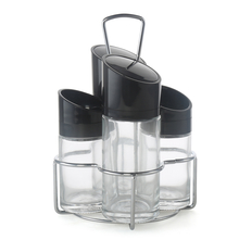 Salad Dressing Set - @home by Nilkamal, Black & White