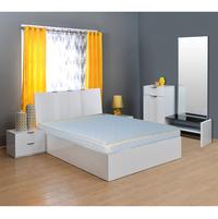 Spinefit 5 Coir Mattress - @home By Nilkamal,  white, 75x72x5