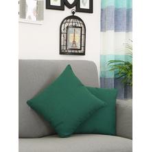 Faux Linen 40 cm x 40 cm Cushion Cover, Emerald