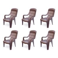 Nilkamal Weekender Garden Chair Set of 6 - Weather Brown