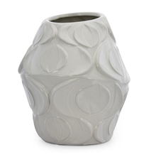 Homely Ink Dia Vase - @home by Nilkamal, Indigo & White
