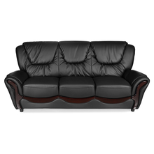 Lunar 3 Seater Sofa - @home By Nilkamal,  black