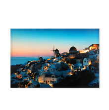 Greece LED Canvas Painting - @home by Nilkamal, Green