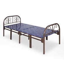 Nilkamal Olivia Folding Metal Bed, Dark Brown