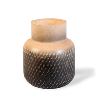 Small Wooden Bottle Vase - @home by Nilkamal