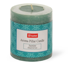 Jasmine Small Pillar Candle - @home by Nilkamal, Blue