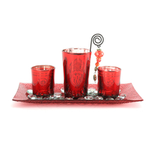 Ambient Votive Set of 3 Giftset - @home by Nilkamal, Maroon