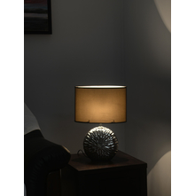 Nouveau Glitz 30X15X42CM Small Table Lamp, Silver