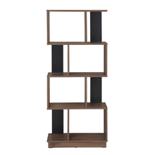 Checkers 4 Tier Book Shelf, Walnut