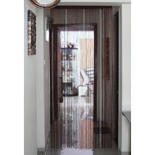 Metallic 100 cm x 229 cm Thread Door Curtain - @home by Nilkamal, Brown