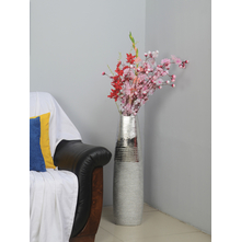 Tall Alto 22X10X77CM Vase, Silver