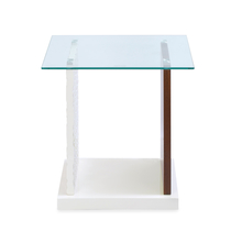 Duro Side Table - @home by Nilkamal, Walnut & Ivory