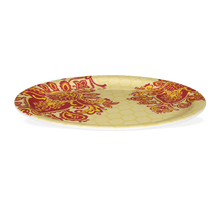 Trad Damask Dinner Plate Set of 4 - @home by Nilkamal, Red