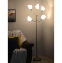 Selena 27X170CM Floor Lamp, White